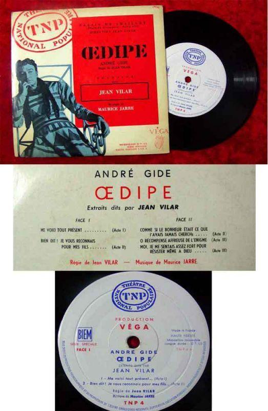 EP André Gide: Oedipe jean Vilar Musik: Maurice Jarre 1958 Rarität