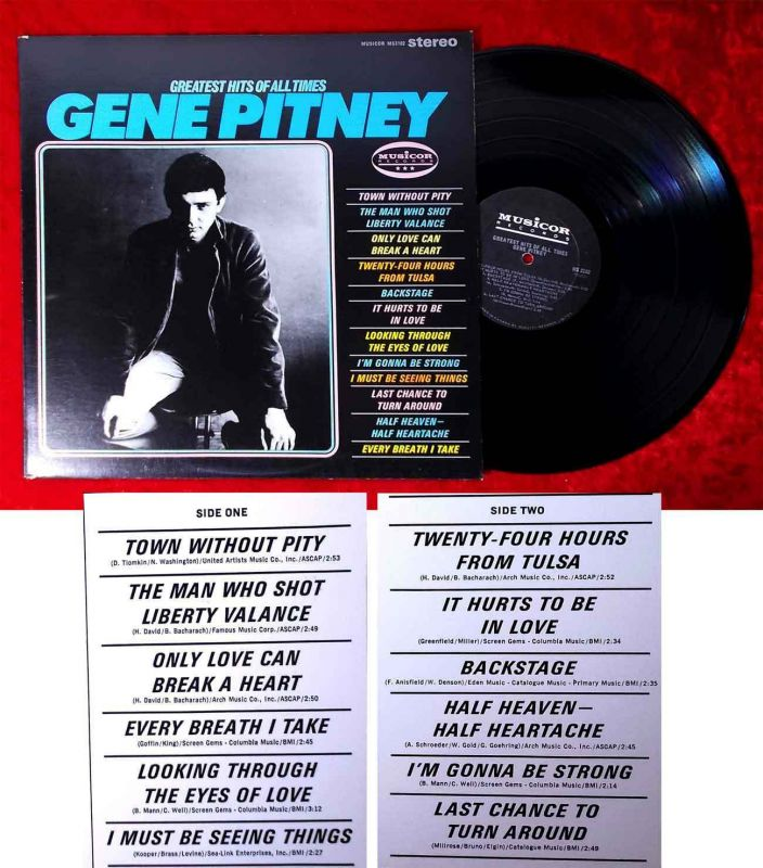 LP Gene Pitney: Greatest Hits of All Times (Musicor MS 3102) Canada 1966