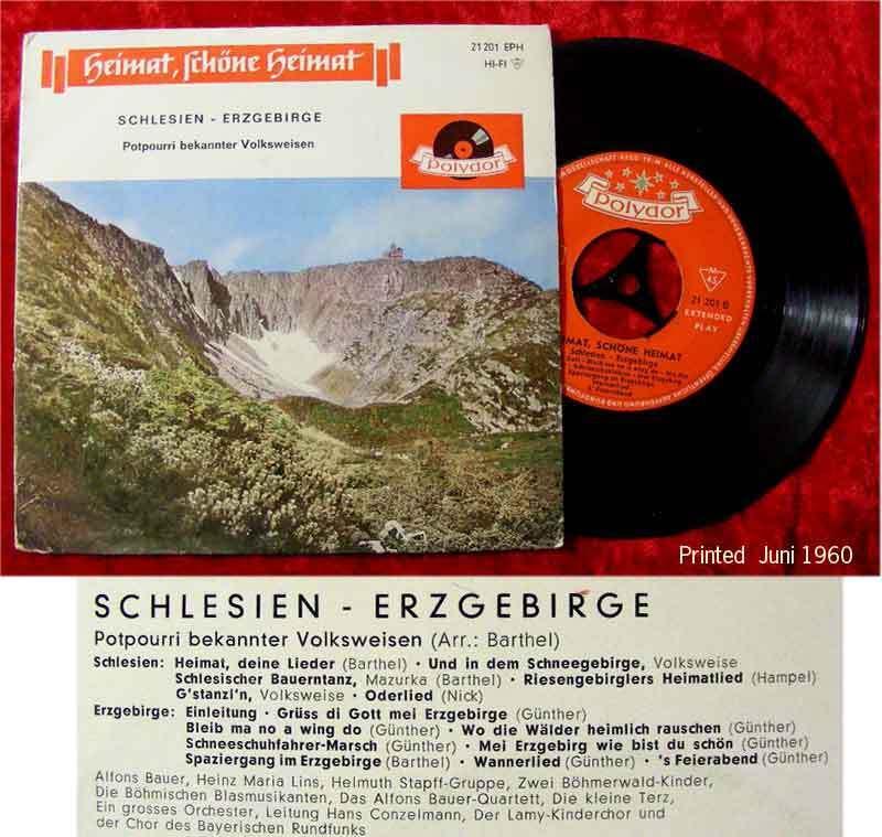 EP Heimat, schöne Heimat - Schlesien / Erzgebirge