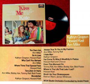 LP Kiss Me Kate w/ Kathryn Grayson Howard Keel Ann MIller (Karussell 635 209) D