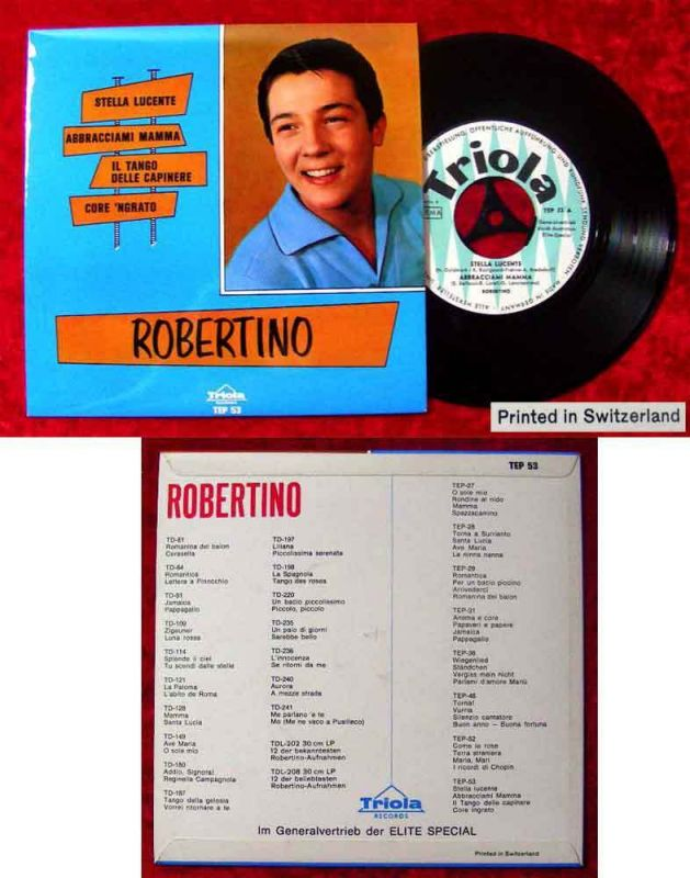 EP Robertino: Stella Lucente + 3 (Triola TEP 53) CH