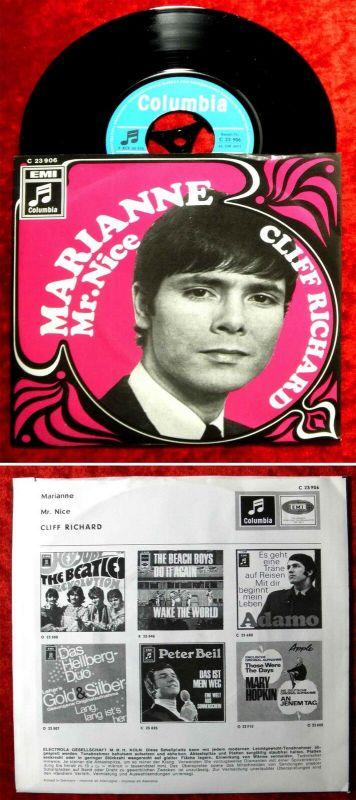 Single Cliff Richard: Marianne / Mr. Nice (Columbia C 23 906) D 1969