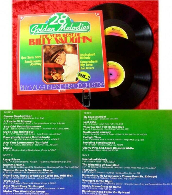 2LP Billy Vaughn: 28 Golden Melodies Vol. 2
