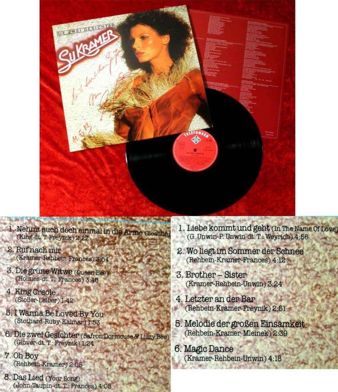 LP Su Kramer: Die zwei Gesichter (Telefunken 623 343) D 1978 Signiert!!!