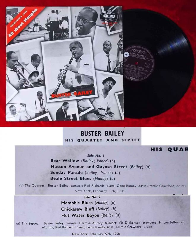 LP Buster Bailey: All About Memphis (Felsted MA-F 14) UK 1959
