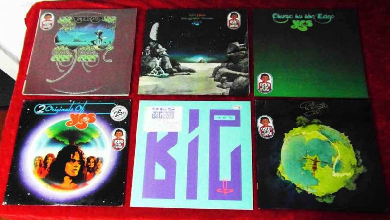 10 Langspielplatten YES  - Vinylsammlung -