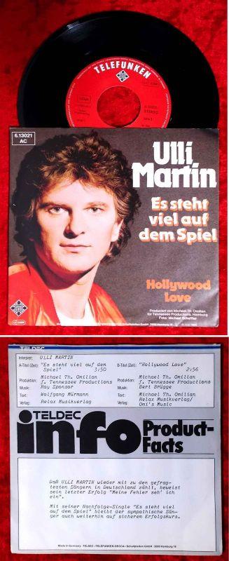 Single Ulli Martin: Es steht viel auf dem Spiel (Telefunken 613021 AC) D 1981
