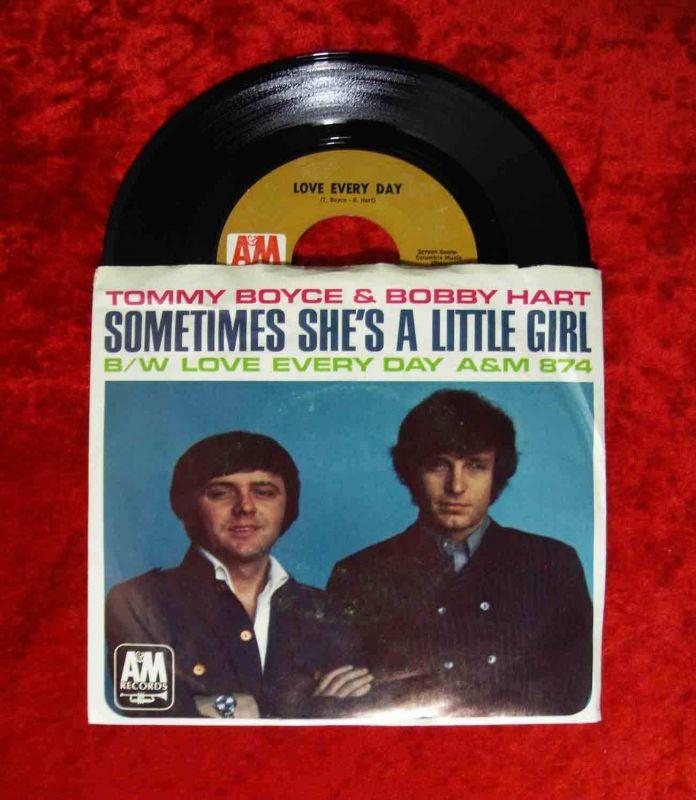 Single Tommy Boyce & Bobby Hart: Sometimes She´s a little Girl (A&M 874)