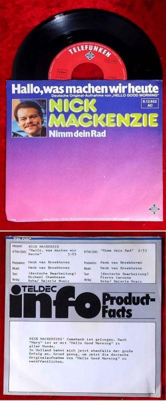 Single Nick MacKenzie: Hallo was machen wir heute (Telefunken 612 832 AC) D 1980