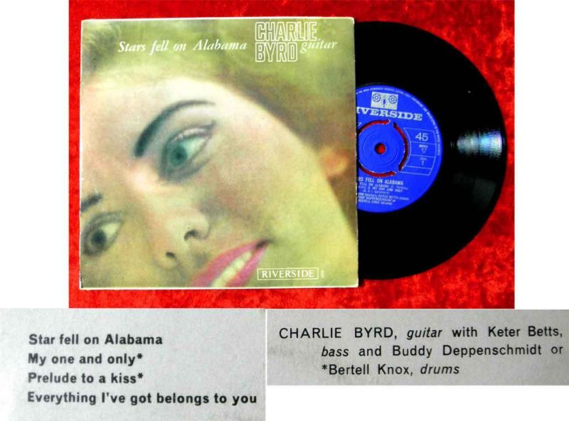 EP Charlie Byrd: Stars fell on Alabama (Riverside REP 3231) UK 1963