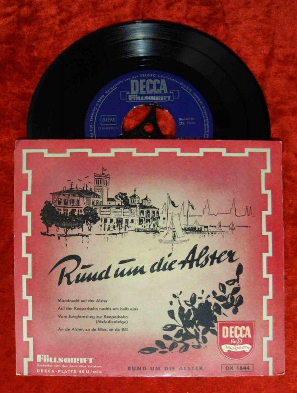 EP Rund um die Alster (Decca DX 1844) Füllschrift  w/ Guschi Rieck Hans Albers