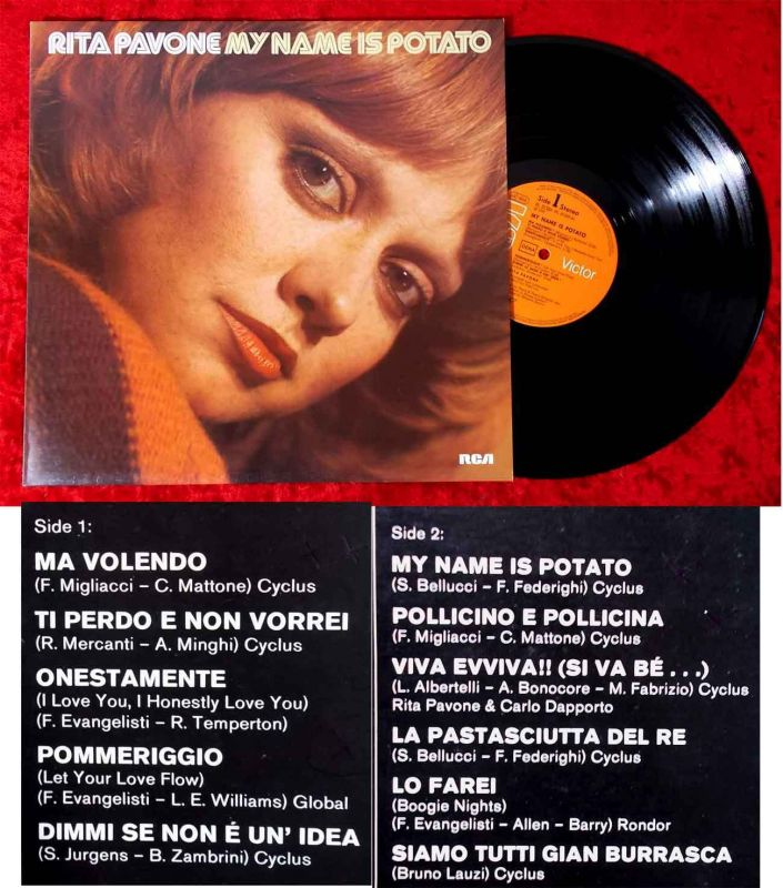LP Rita Pavone: My Name Is Potato (RCA PL 31 201) D 1978