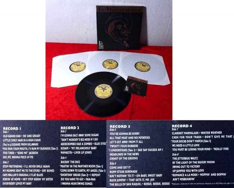 4LP Box Fats Waller & His Rhythm The Last Years 1940 - 1943 (Bluebird NL9041) D