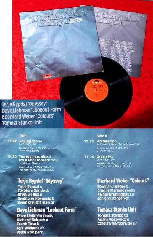 LP  1. New Jazz Festival Hamburg 1975 (Polydor 2371 618) D 1975