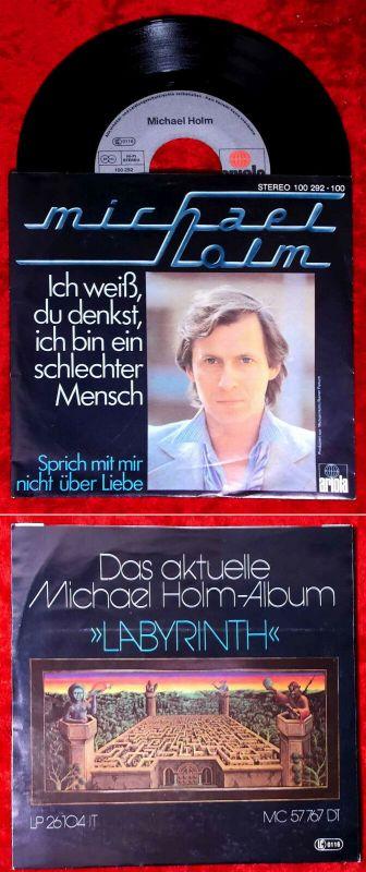 Single Michael Holm: Ich weiß Du denkst ich bin ein schlechter Mensch (Ariola) D
