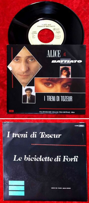 Single Alice & Battiato: I Treni Di Tozeur (EMI 1C 006-1186627) Grand Prix 1984