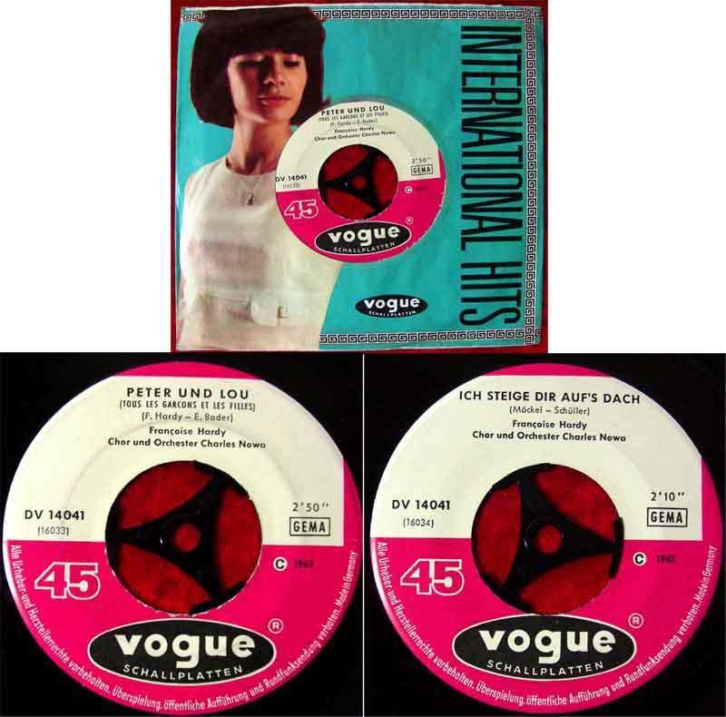Single Francoise Hardy: Peter und Lou (Vogue DV 14 041) D 1963