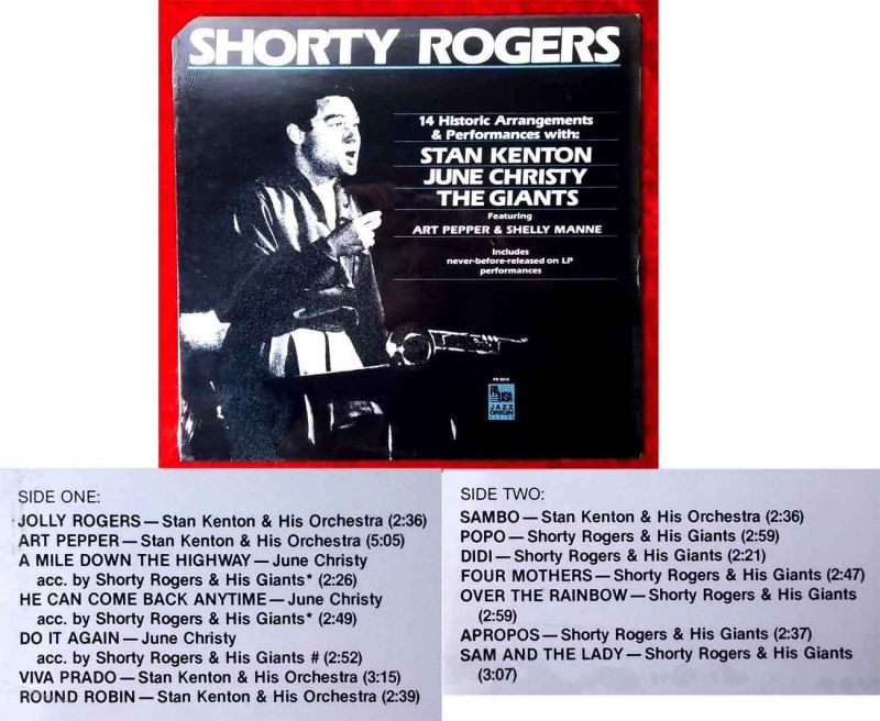 LP Shorty Rogers: 14 Historic Arrangements & Performances (Jazz Origin PR 9016) 0