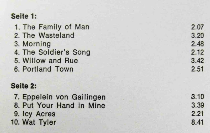 LP Colin Wilkie & Shirley Hart: Morning (Pläne S 88 107) D 1