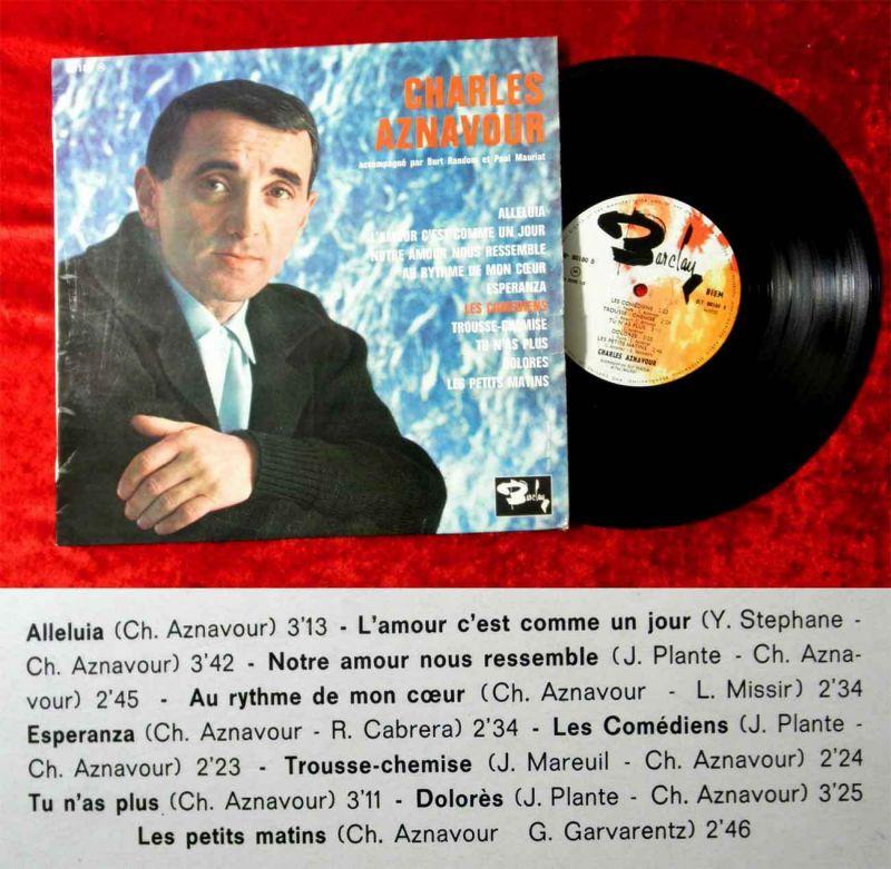 25cm LP Charles Aznavour w/ Burt Random et Paul Mauriat (Barclay 80 180) F 0