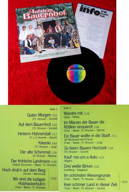 LP Thomas Strasser & seine Musikanten: Auf dem Bauernhof (Telefunken 625586 AP) 0