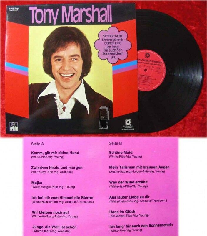 LP Tony Marshall (Clubsonderauflage 1971)