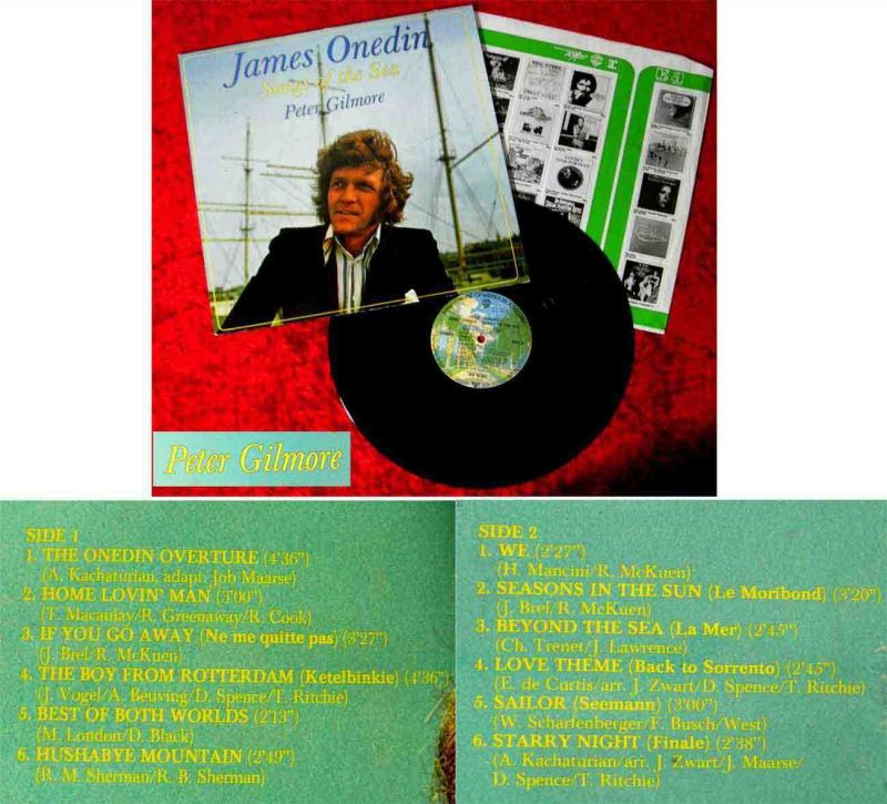LP Peter Gilmore: James Onedin - Songs of the Sea (Warner Bros. 56 303) D 1976