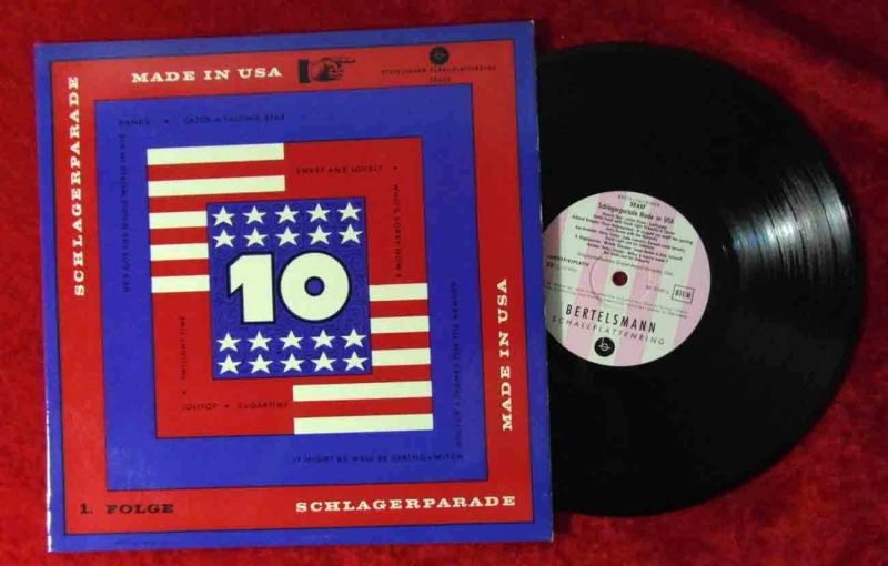 25cm LP Schlagerparade Made in USA (Bertelsmann 33 657) D 1956
