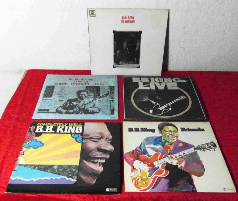 5 Langspielplatten  B.B. KiNG - Vinylsammlung -