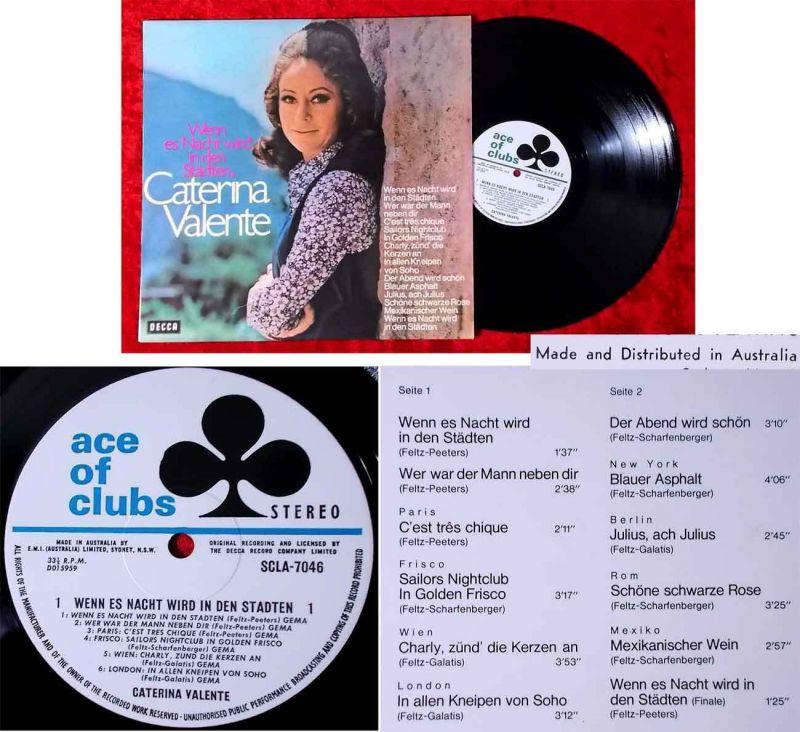 LP Caterina Valente: Wenn es Nacht wird in den Städten (Decca 7046)  Australien