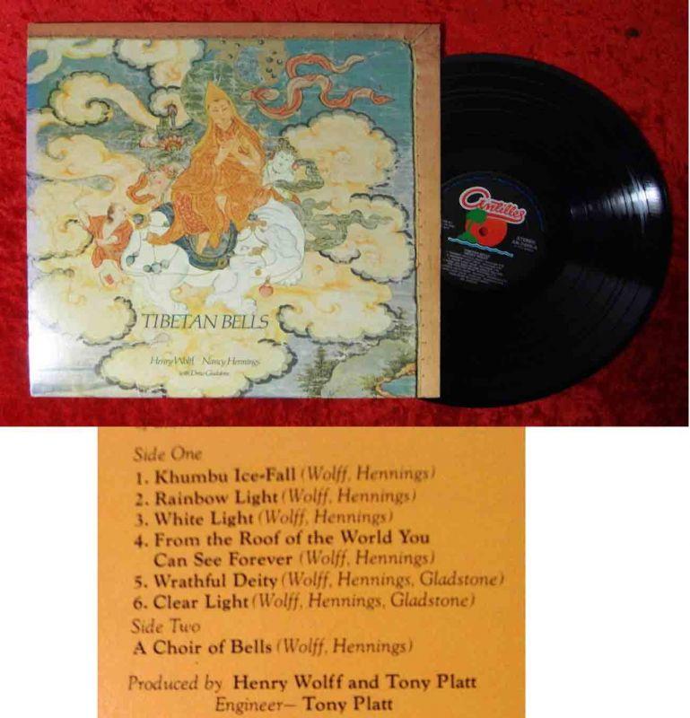 LP Henry Wolff Nancy Hennings Drew Gladstone: Tibetian Bells (Antilles 7006)