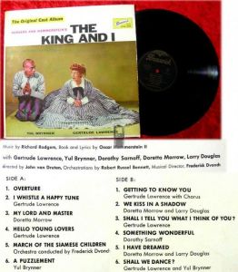 LP The King And I with Yul Brynner & Gertrude Lawrence