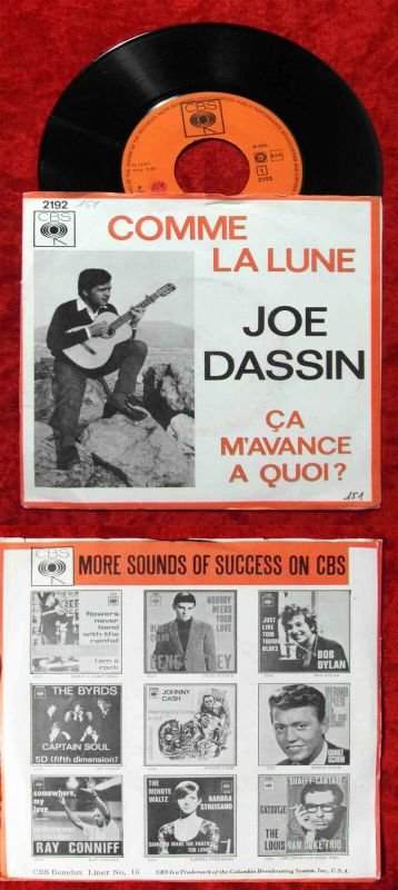 Single Joe Dassin: Comme La Lune (CBS 2192) NL 1966