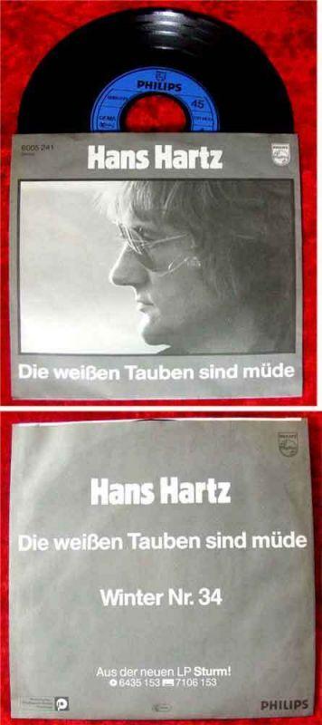 Single Hans Hartz: Die weißen Tauben sind müde