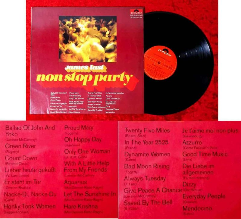 LP James Last: Non Stop Party (Polydor 92 249) Clubsonderauflage D 1970
