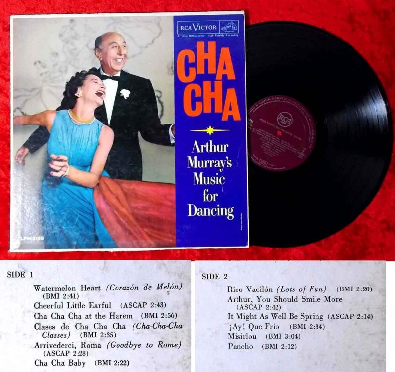 LP Arthur Murray: Music for Dancing Cha Cha (RCA LPM-2155) US 1959