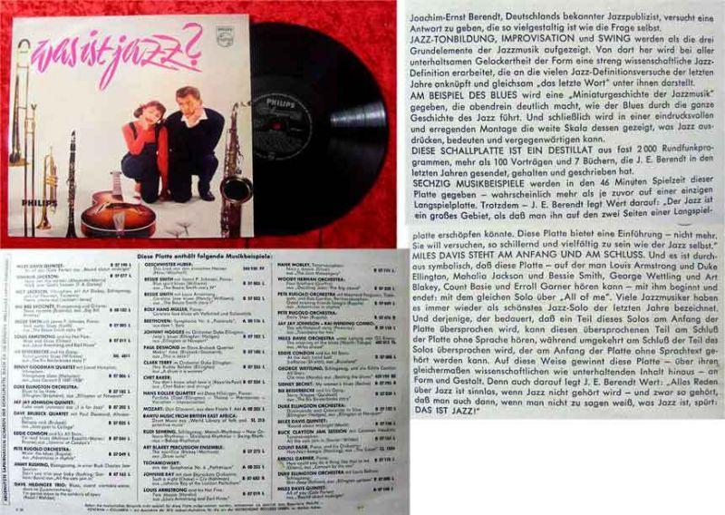 LP Was ist Jazz? mit Joachim Ernst Behrendt (1958) Rar!