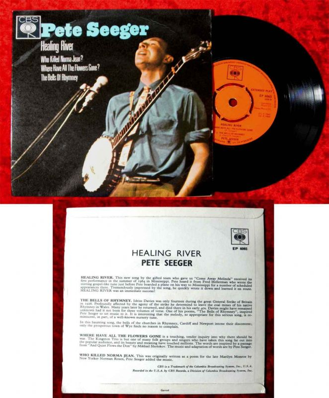 EP Pete Seeger: Healing River (CBS EP 6065) UK 1965