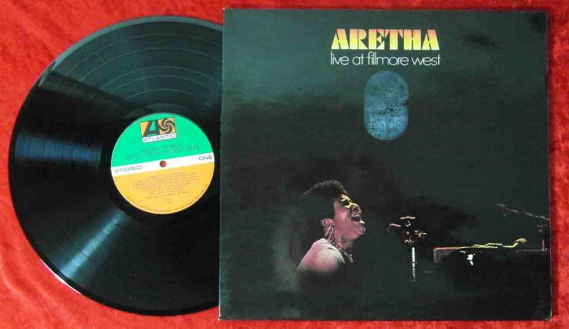 LP Aretha Franklin Live at Filmore West (Atlantic 40 222) D 1971