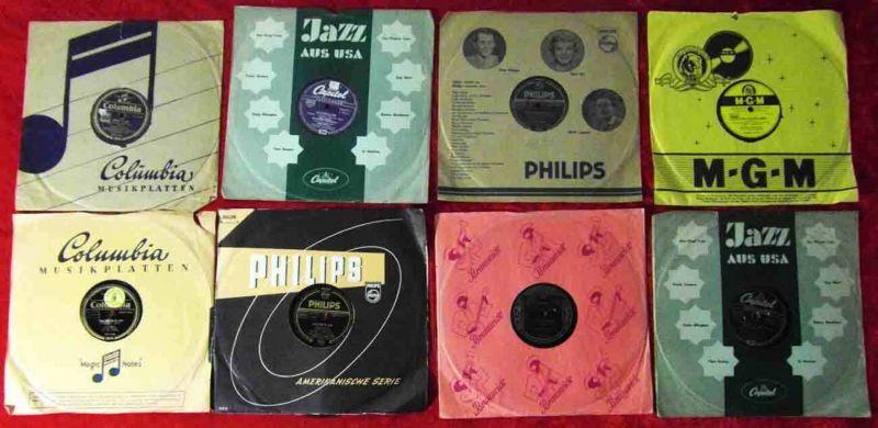 8 Original 78er Schellackplatten DORIS DAY JO STAFFORD FRANKIE LAINE....