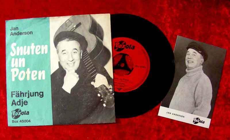 Single Jan Anderson: Snuten un Poten (mit Autogrammkarte)  (Boxola 45004)