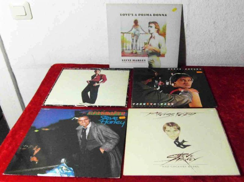 6 Langspielplatten STEVE HARLEY / COCKNEY REBEL  - Vinylsammlung -