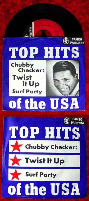 Single Chubby Checker: Twist It Up / Surf Party (Cameo Parkway 10 350 AT) D
