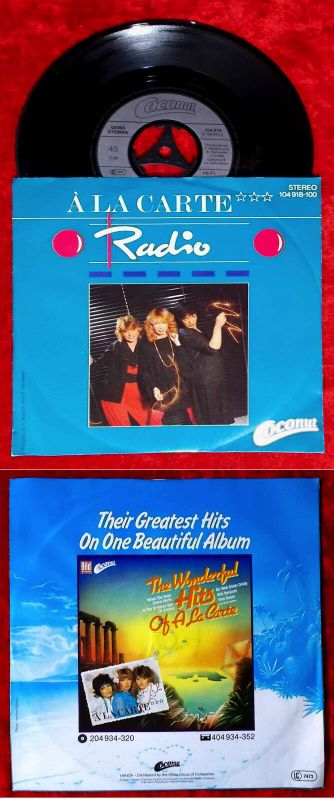 Single A La Carte: Radio (Coconut 104 918-100) D 1983