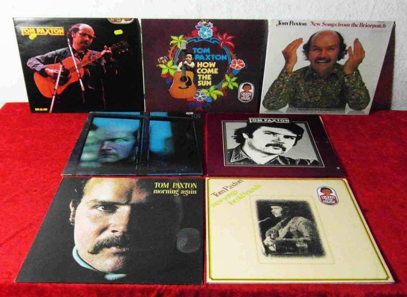 7 Langspielplatten  TOM PAXTON  - Vinylsammlung -