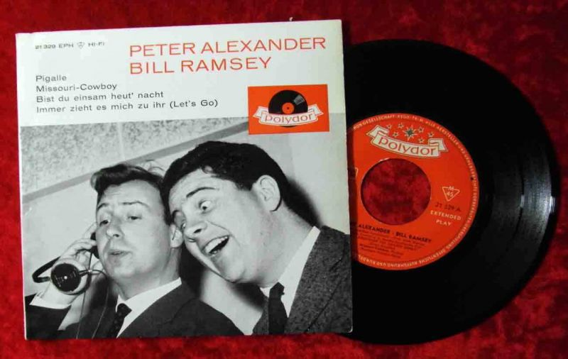 EP Peter Alexander & Bill Ramsey (Polydor 21 329 HiFi) D 1961