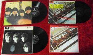 5 Langspielplatten BEATLES  - Vinylsammlung -
