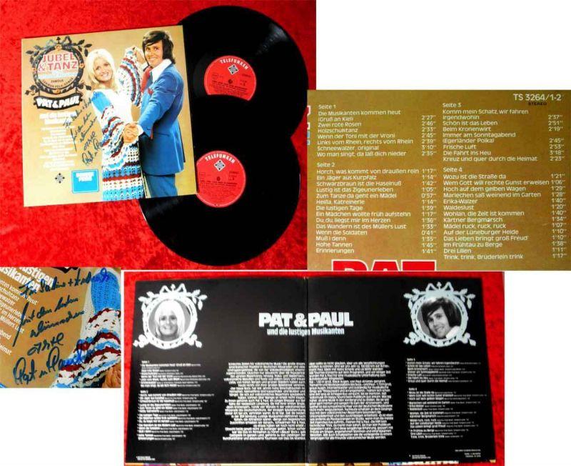 2LP Pat & Paul: Jubel & Tanz beim Kronenwirt (Telefunken) Signiert D 1974 0