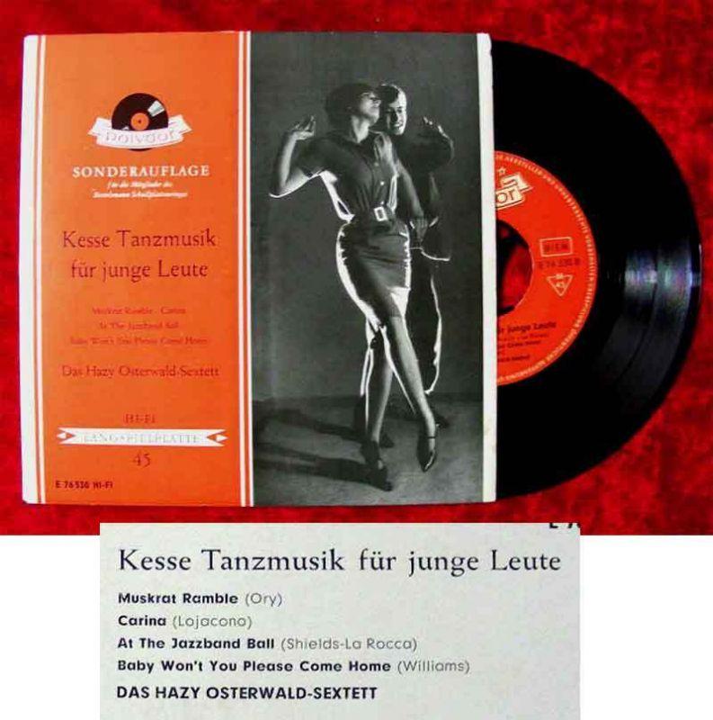 EP Hazy Osterwald Sextett: Kesse Tanzmusik für junge Leute (Polydor E 76 530) D