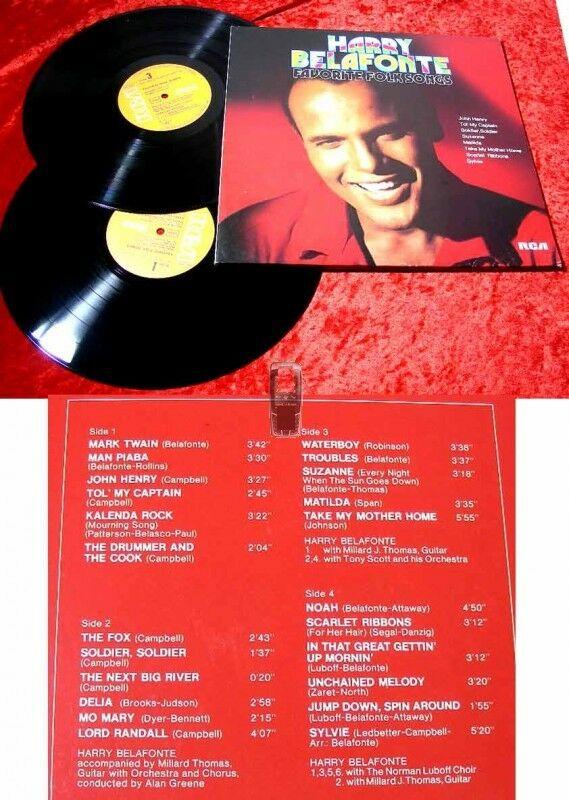 2LP Harry Belafonte: Favorite Folk Songs